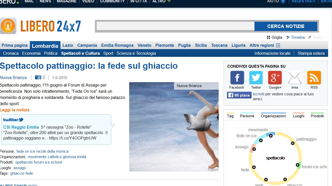 FEDE ON ICE: RASSEGNA STAMPA